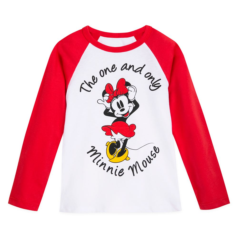 Minnie Mouse Long Sleeve Baseball T-Shirt for Girls