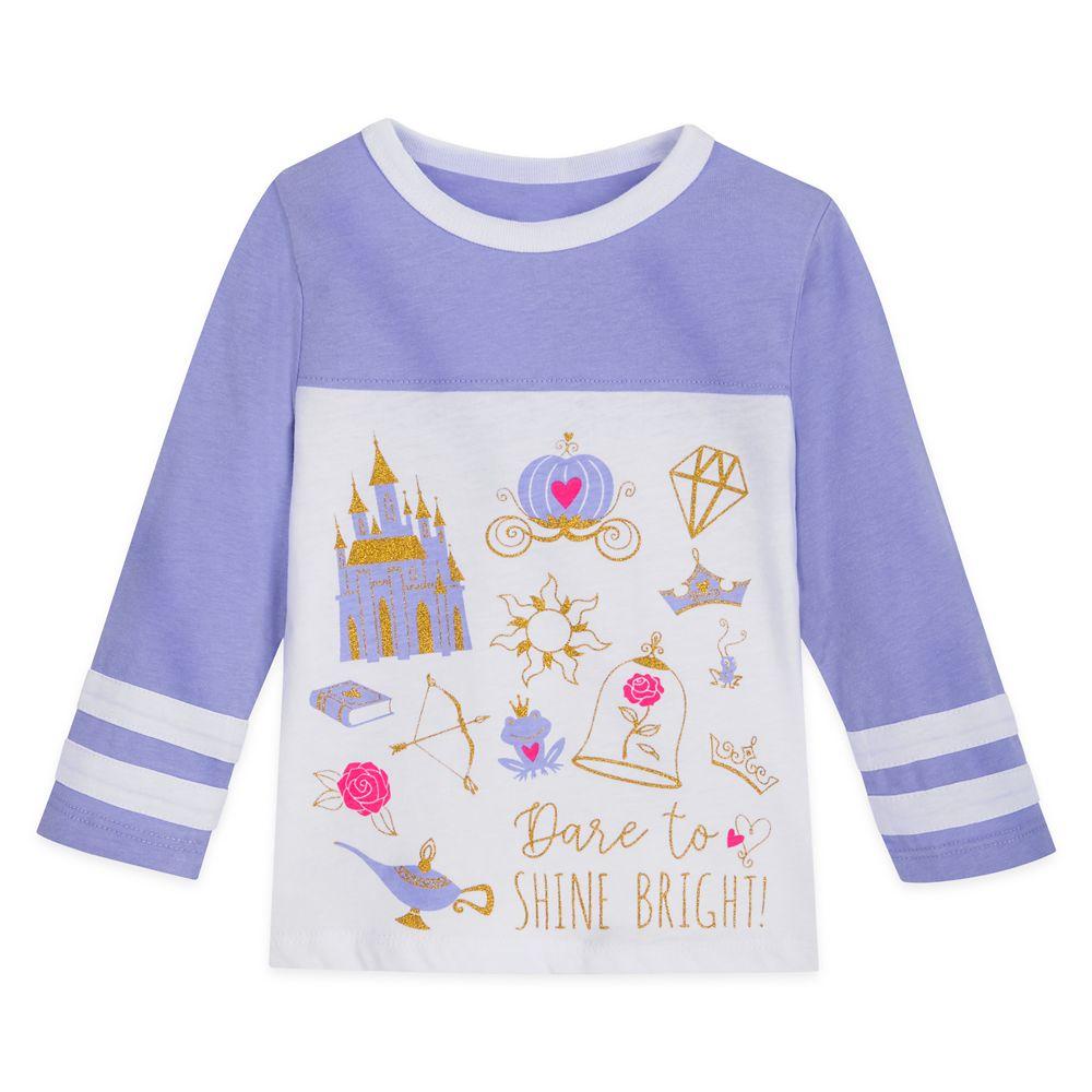 Disney Princess Icons Football T-Shirt for Girls