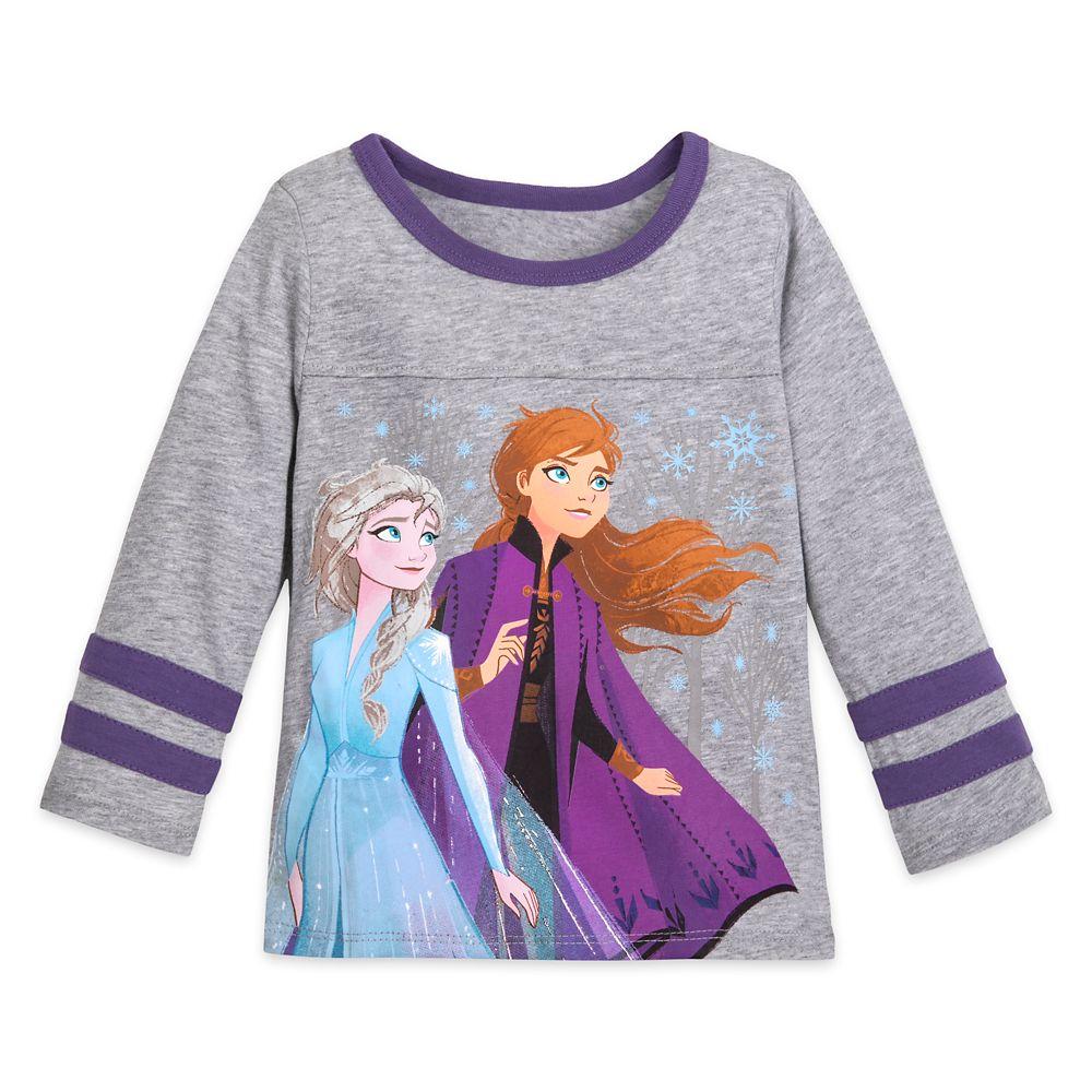 Anna and Elsa Football T-Shirt for Girls – Frozen 2