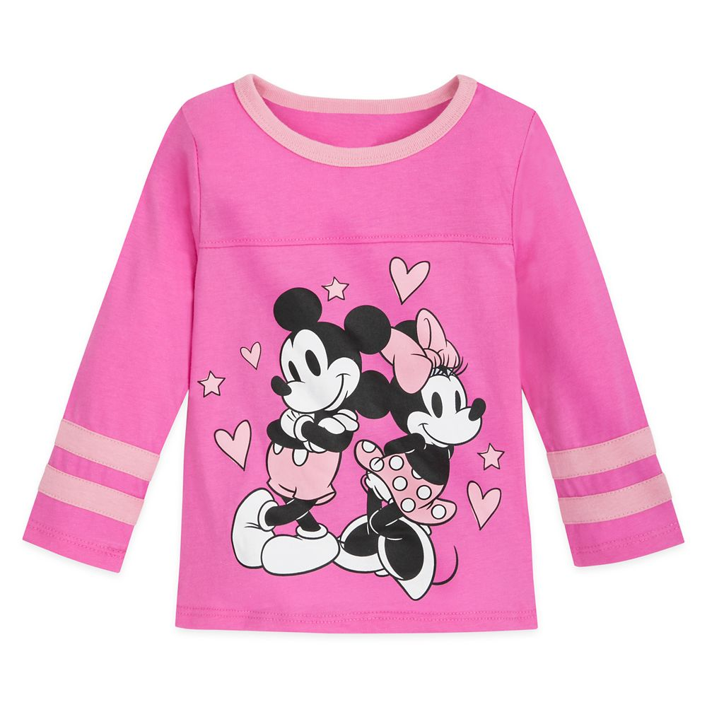 Mickey and Minnie Mouse Football T-Shirt for Girls