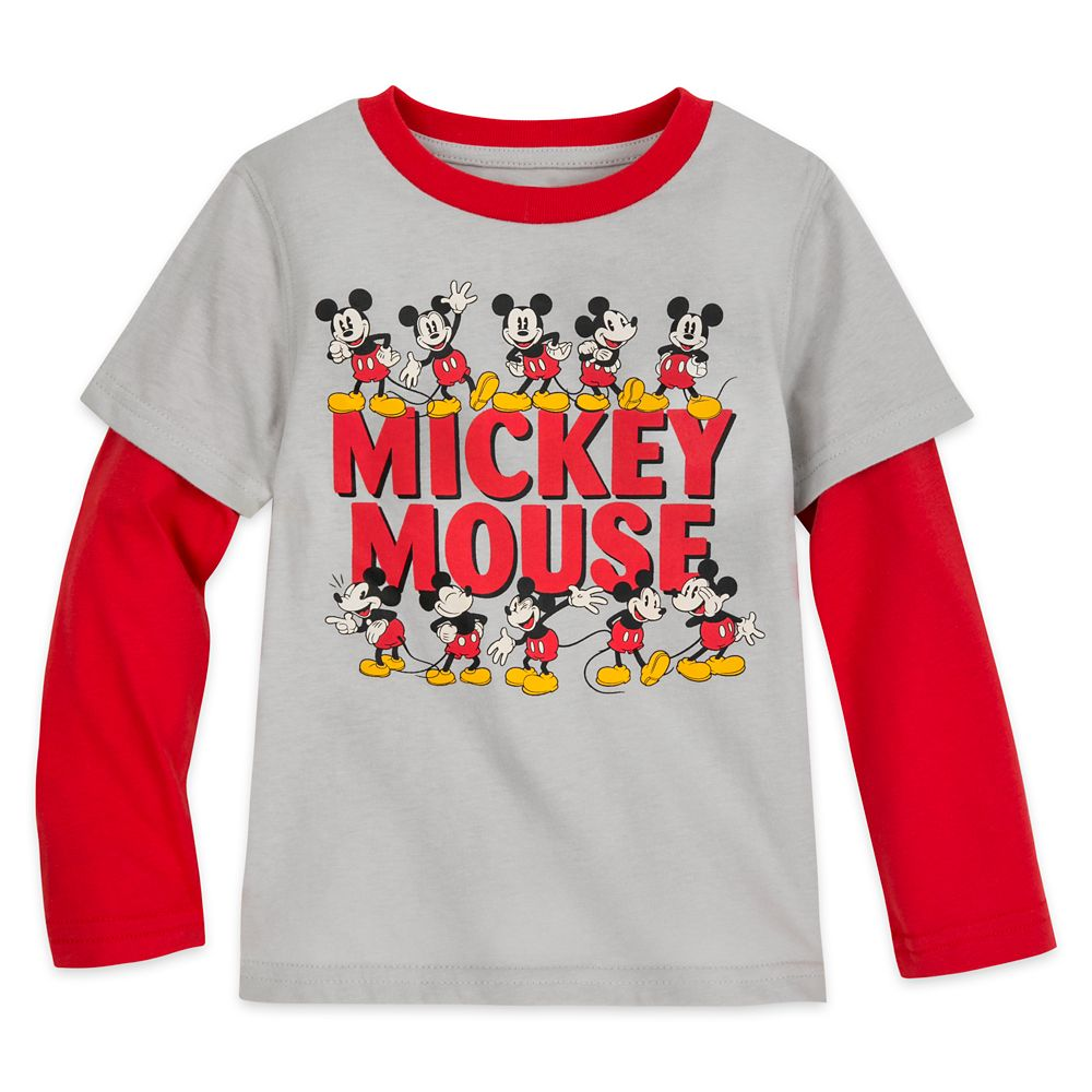 Mickey Mouse Long Sleeve Layered T-Shirt for Boys