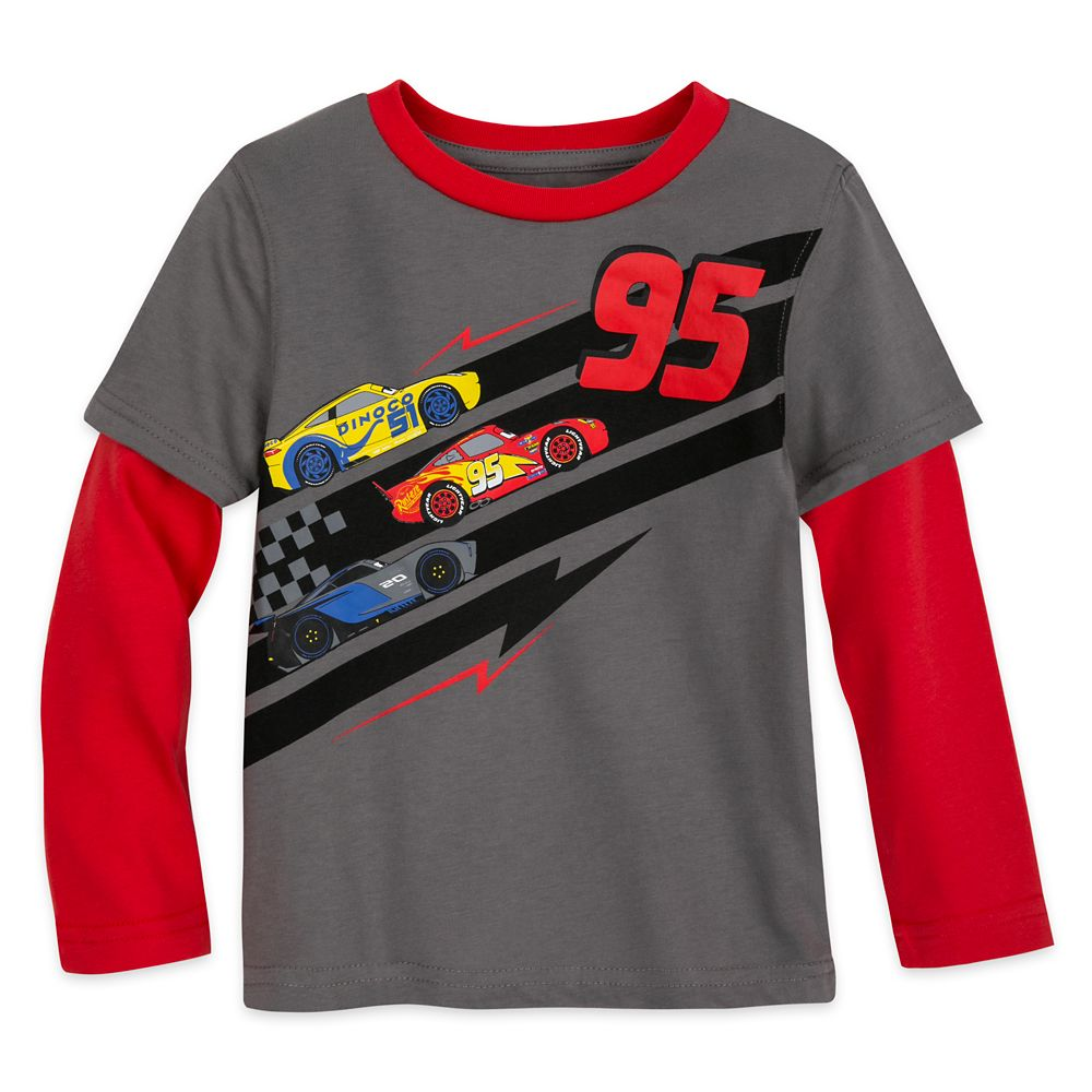 Lightning McQueen Long Sleeve Layered T-Shirt for Boys – Cars