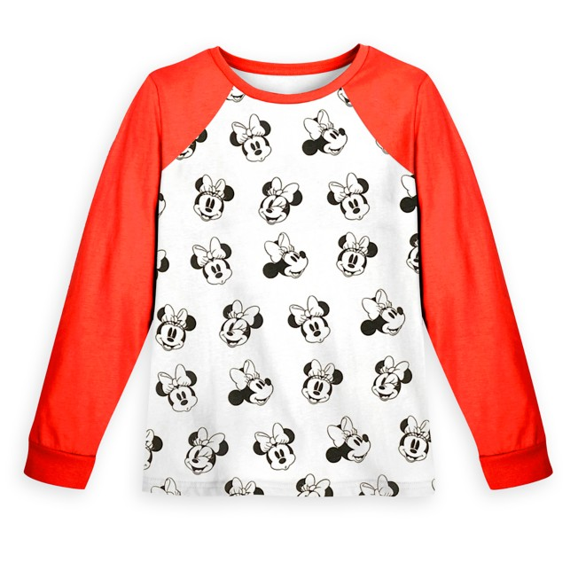 Minnie Mouse Long Sleeve Baseball T-Shirt for Girls
