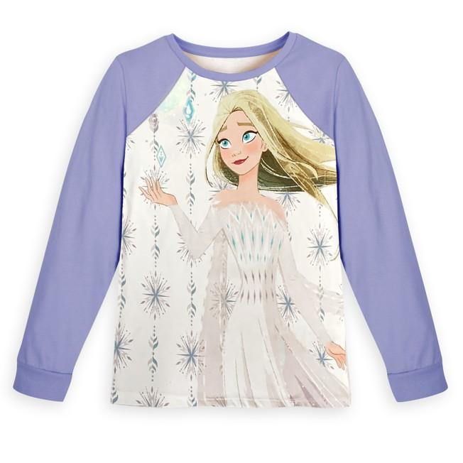 Elsa Long Sleeve Baseball T-Shirt for Girls – Frozen