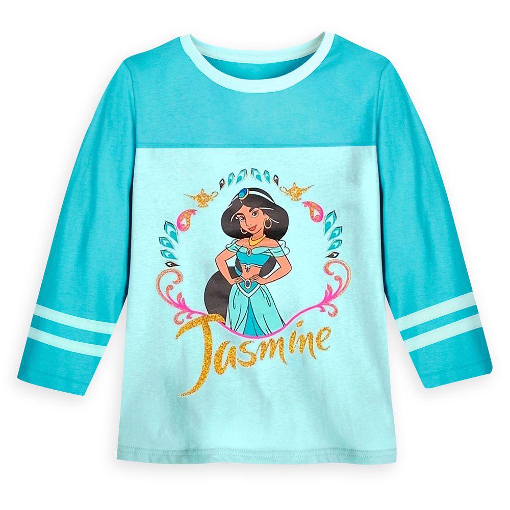 Jasmine Long Sleeve Football T-Shirt for Girls – Aladdin