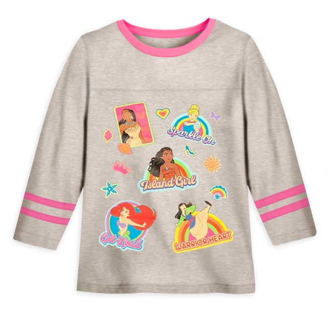 Disney Princess Long Sleeve Football T-Shirt for Girls