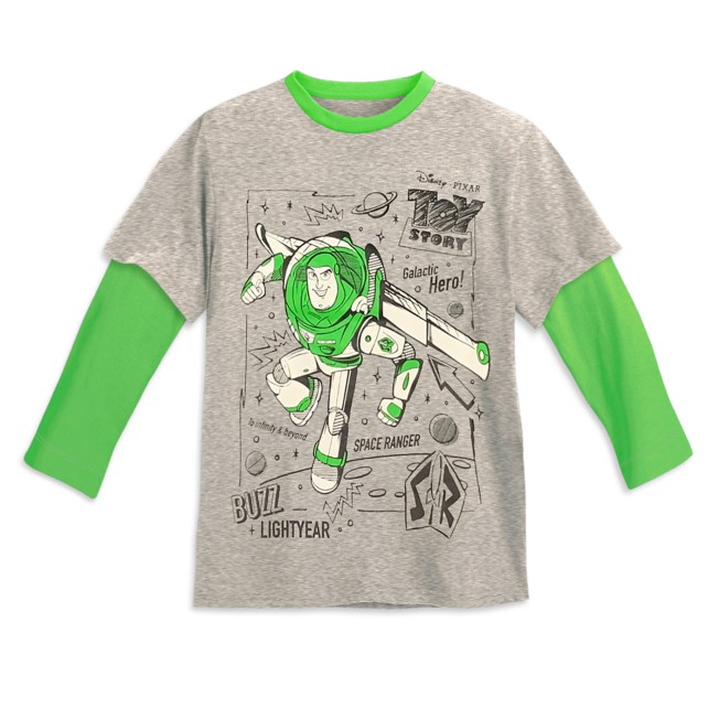 Buzz Lightyear Layered Long Sleeve T-Shirt for Kids – Toy Story