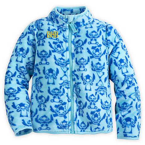 Stitch Fleece Jacket for Girls - Personalizable