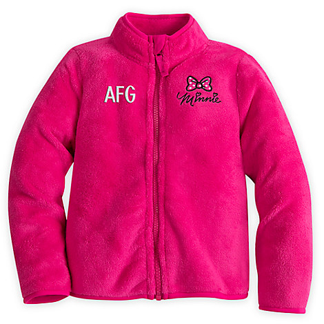 Minnie Mouse Bow Fleece Jacket for Girls - Personalizable