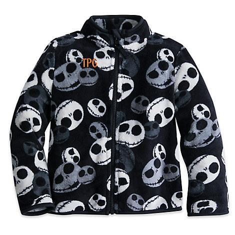 Jack Skellington Fleece Jacket for Boys - Personalizable