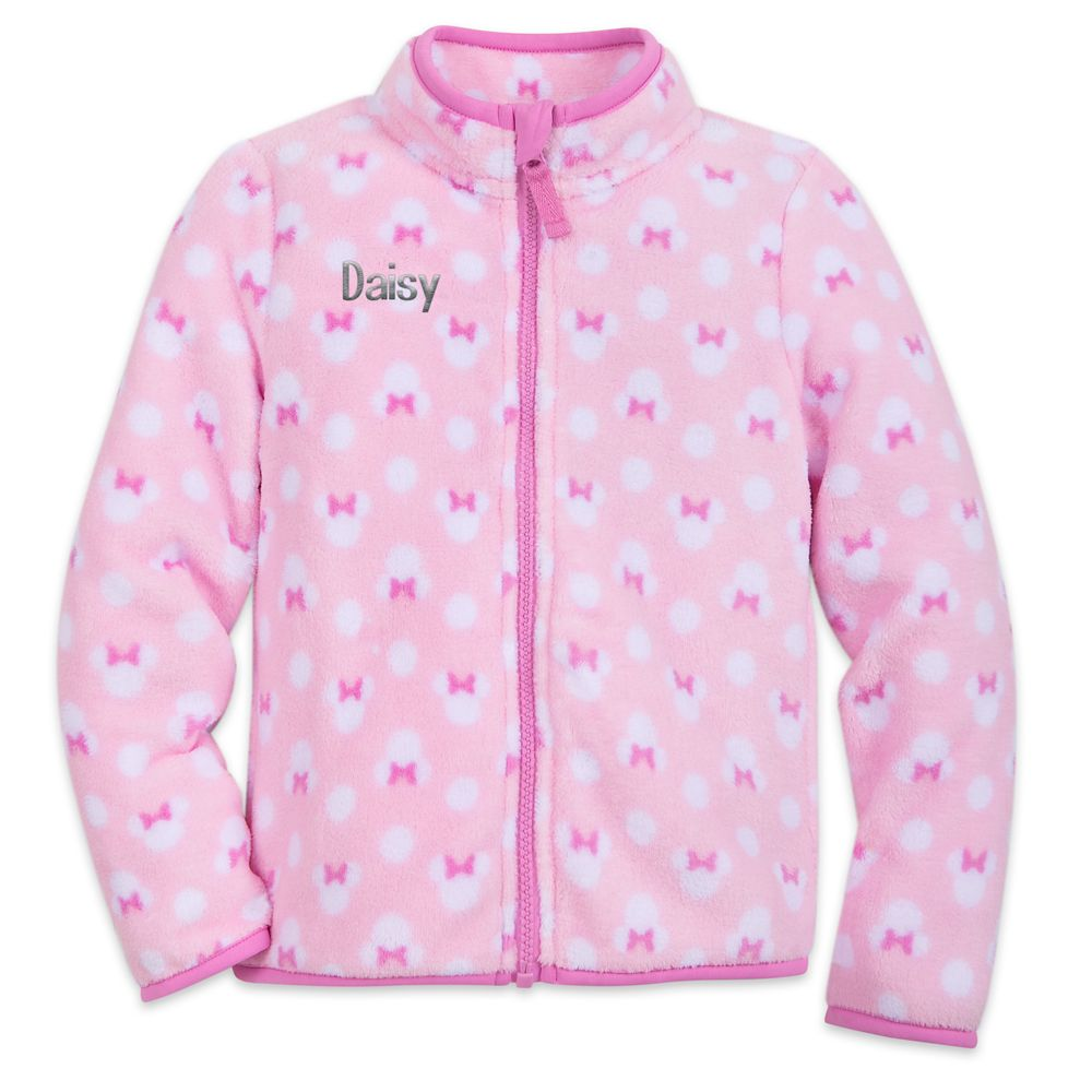 Minnie Mouse Zip Fleece Jacket for Kids – Personalizable