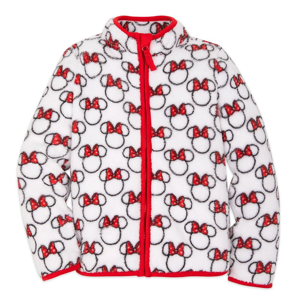 Minnie Mouse Red Zip Fleece Jacket for Kids