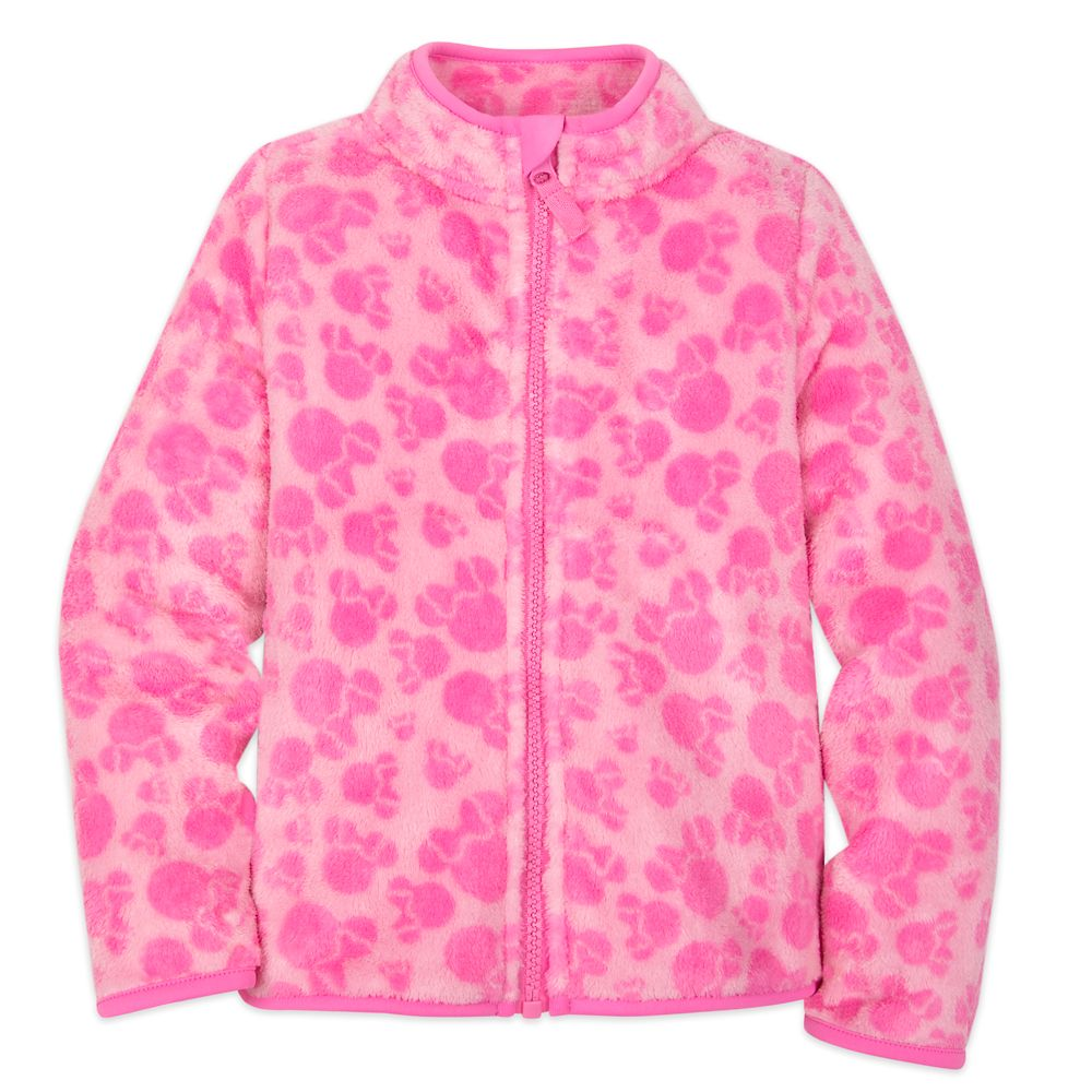 Minnie Mouse Pink Zip Fleece Jacket for Kids