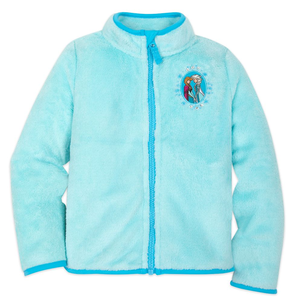 Anna and Elsa Zip Fleece Jacket for Kids  Personalized Official shopDisney