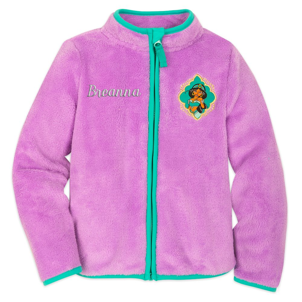 Jasmine Zip Fleece Jacket for Kids – Personalized