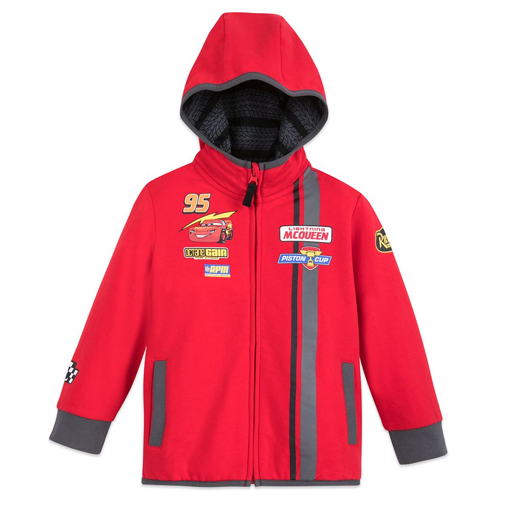 Lightning McQueen Zip-Up Hoodie for Boys