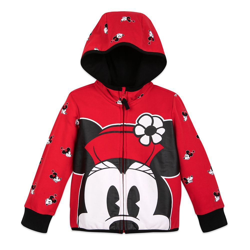 Minnie Mouse Zip-Up Hoodie for Kids – Personalized