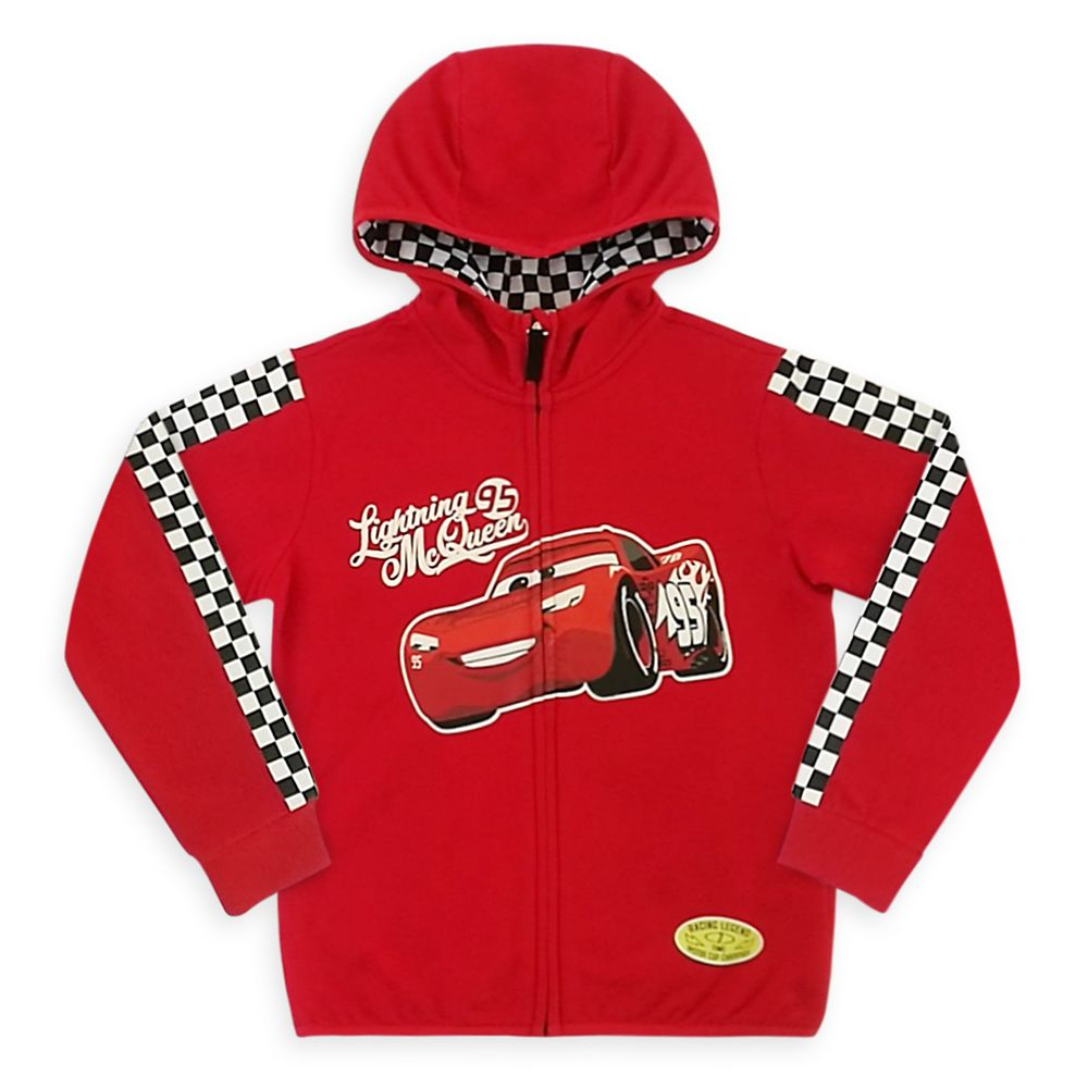 Lightning McQueen Zip Hoodie for Boys – Cars
