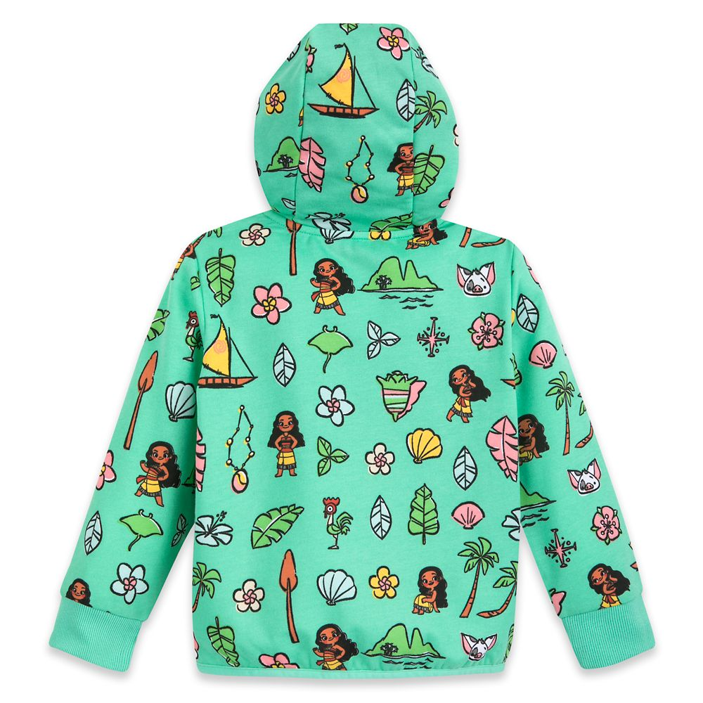Moana Zip-Up Hoodie for Kids – Personalized