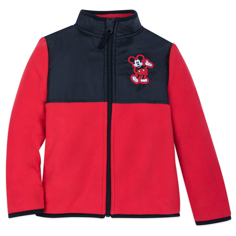 Mickey Mouse Pieced Fleece Jacket for Kids – Personalized