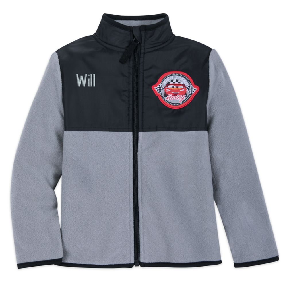 Lightning McQueen Pieced Fleece Jacket for Kids  Personalized Official shopDisney