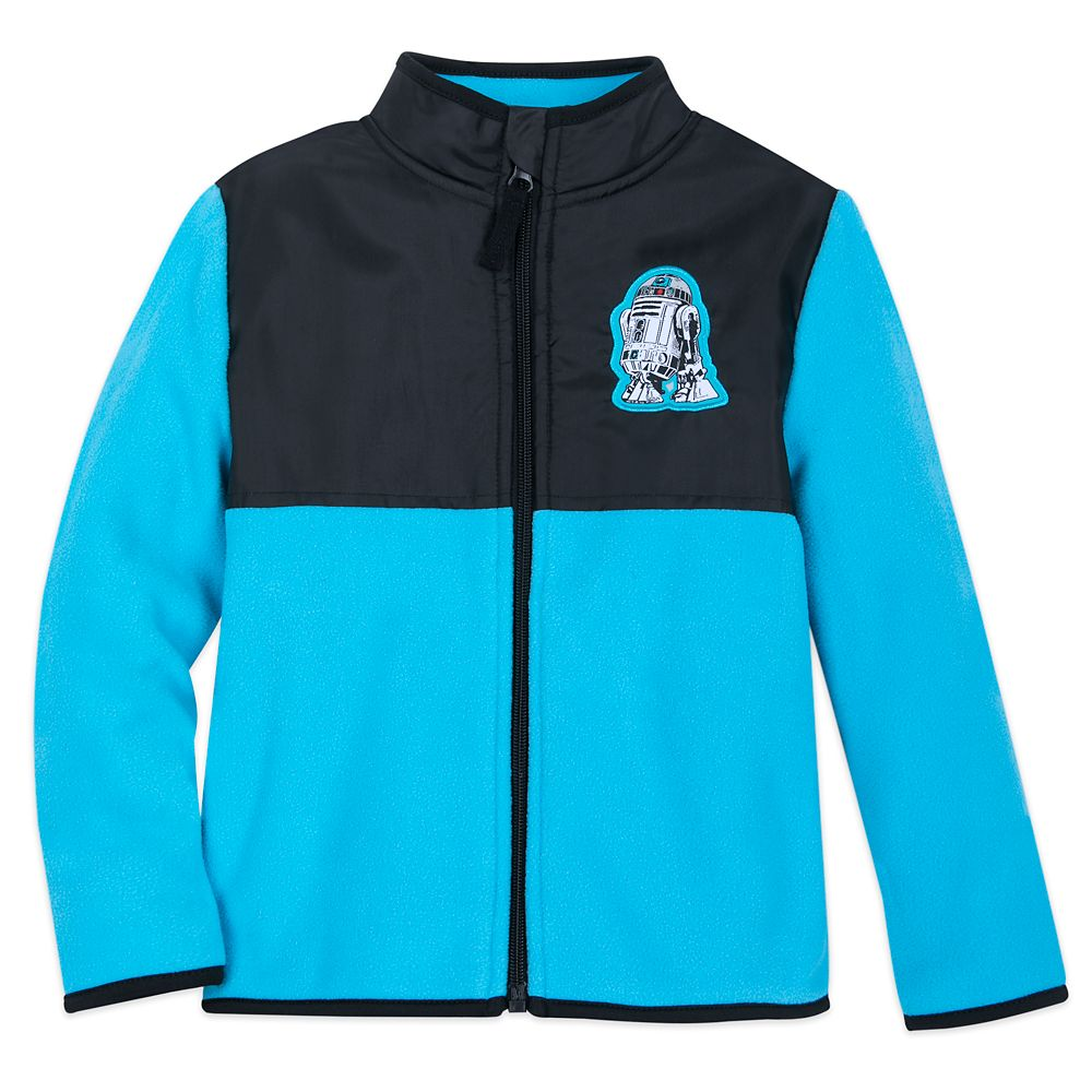 R2-D2 Pieced Fleece Jacket for Kids  Star Wars  Personalized Official shopDisney