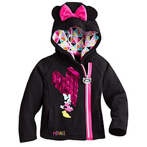 Minnie Mouse Fleece Zip Hoodie for Girls
