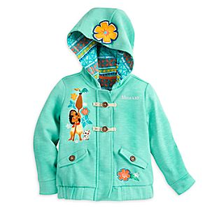 Disney Moana Fleece Hooded Jacket for Girls - Personalizable