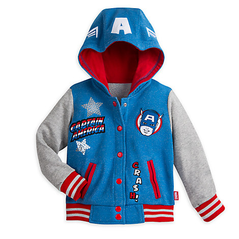 Marvel Captain America Fleece Jacket for Girls