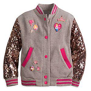 Disney Princess Sequined Varsity Jacket for Girls