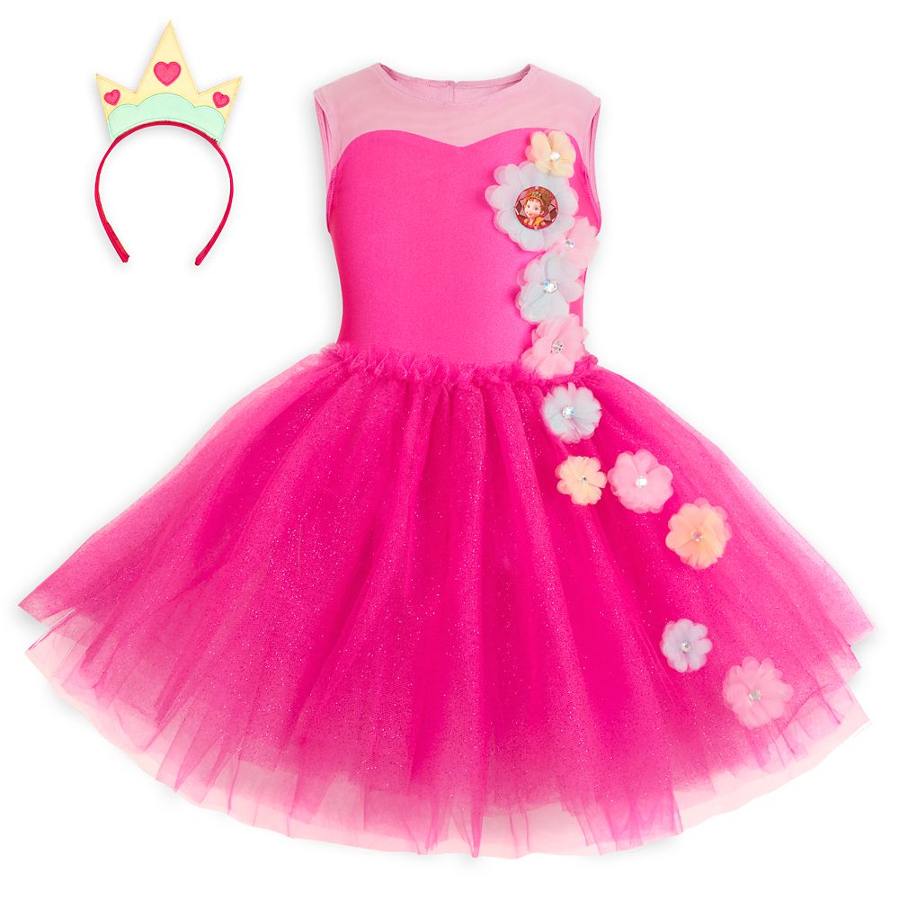 디즈니 팬시 낸시 드레스 머리띠 세트 Fancy Nancy Tutu Leotard and Headband Set for Girls