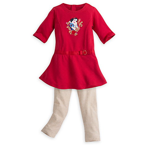 Snow White Dress and Leggings Set for Girls