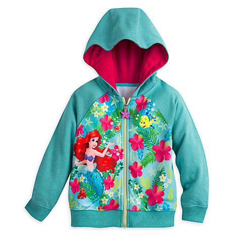 The Little Mermaid Zip Hoodie for Girls
