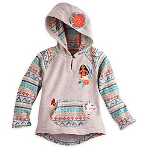 Moana Hooded Fleece for Girls