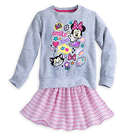 Minnie Mouse Clubhouse Skirt Set for Girls