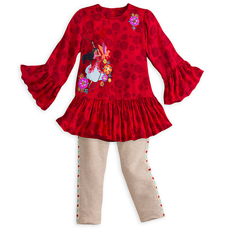 Elena of Avalor Fashion Top and Leggings Set for Girls