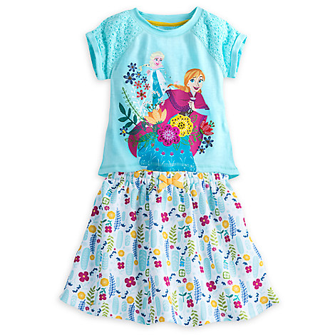 Anna and Elsa Skirt Set for Girls