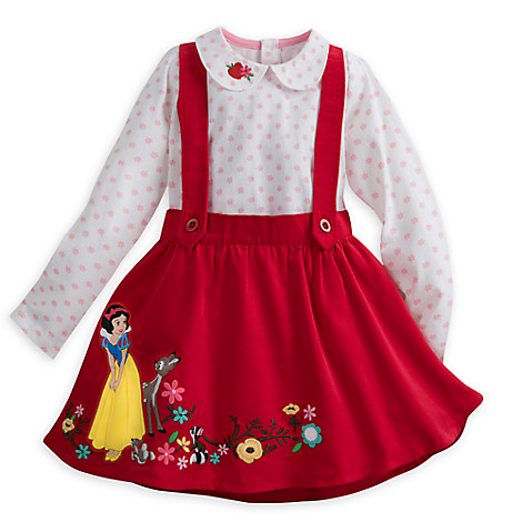 Snow White Pinafore Dress Set for Girls
