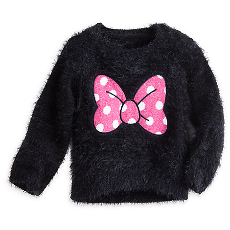 Minnie Mouse Bow Faux Mohair Sweater for Girls