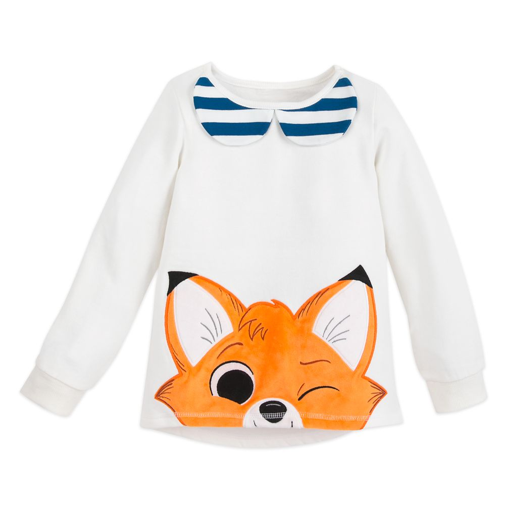 Tod Pullover Top for Girls – The Fox and the Hound – Disney Furrytale friends Collection