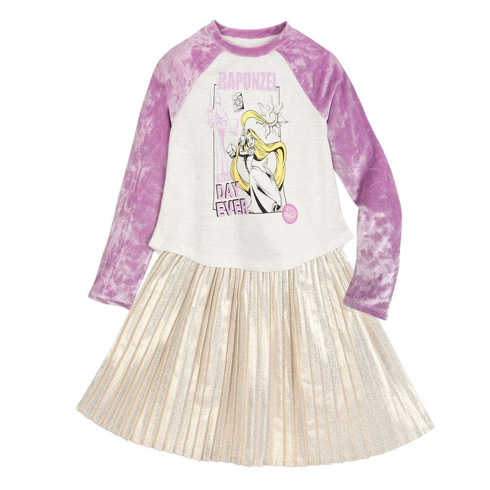Rapunzel T-Shirt and Skirt Set for Girls
