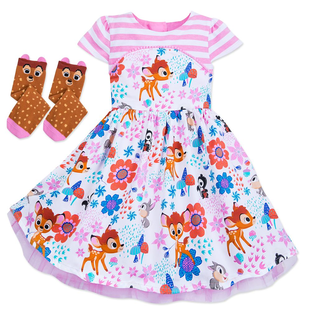Bambi Dress and Socks Set for Girls – Disney Furrytale friends