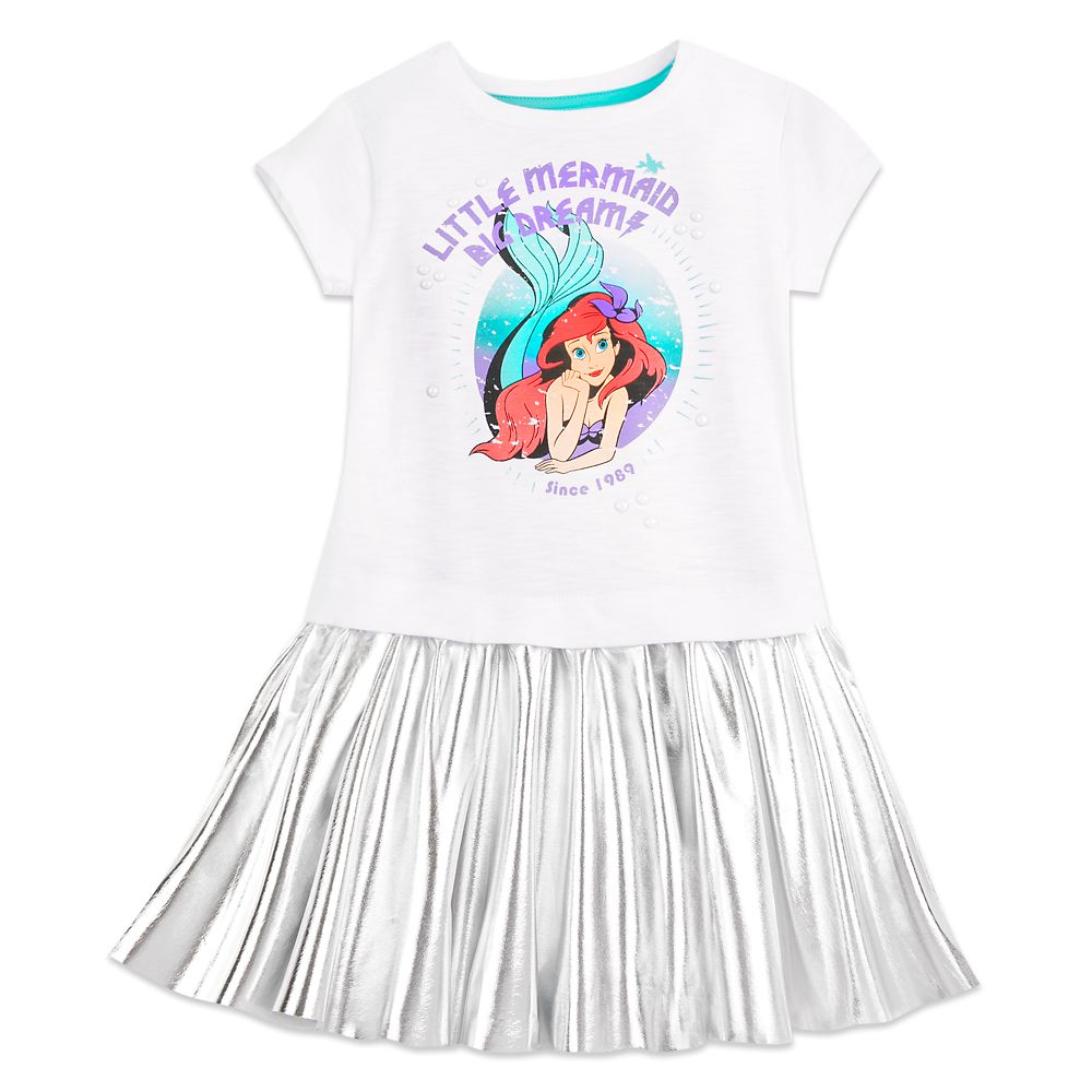 Ariel ''Big Dreams'' T-Shirt Dress for Girls
