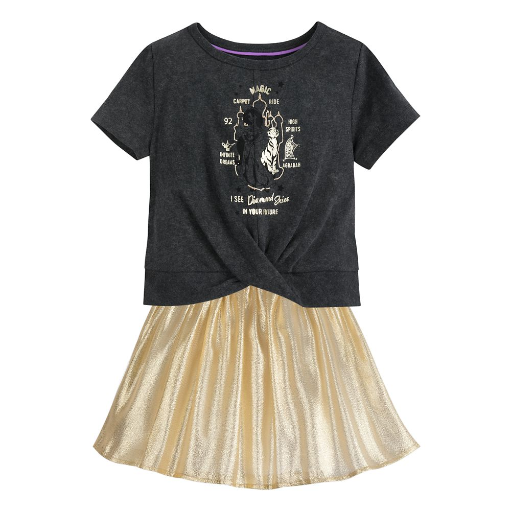 Jasmine T-Shirt and Skirt Set for Girls