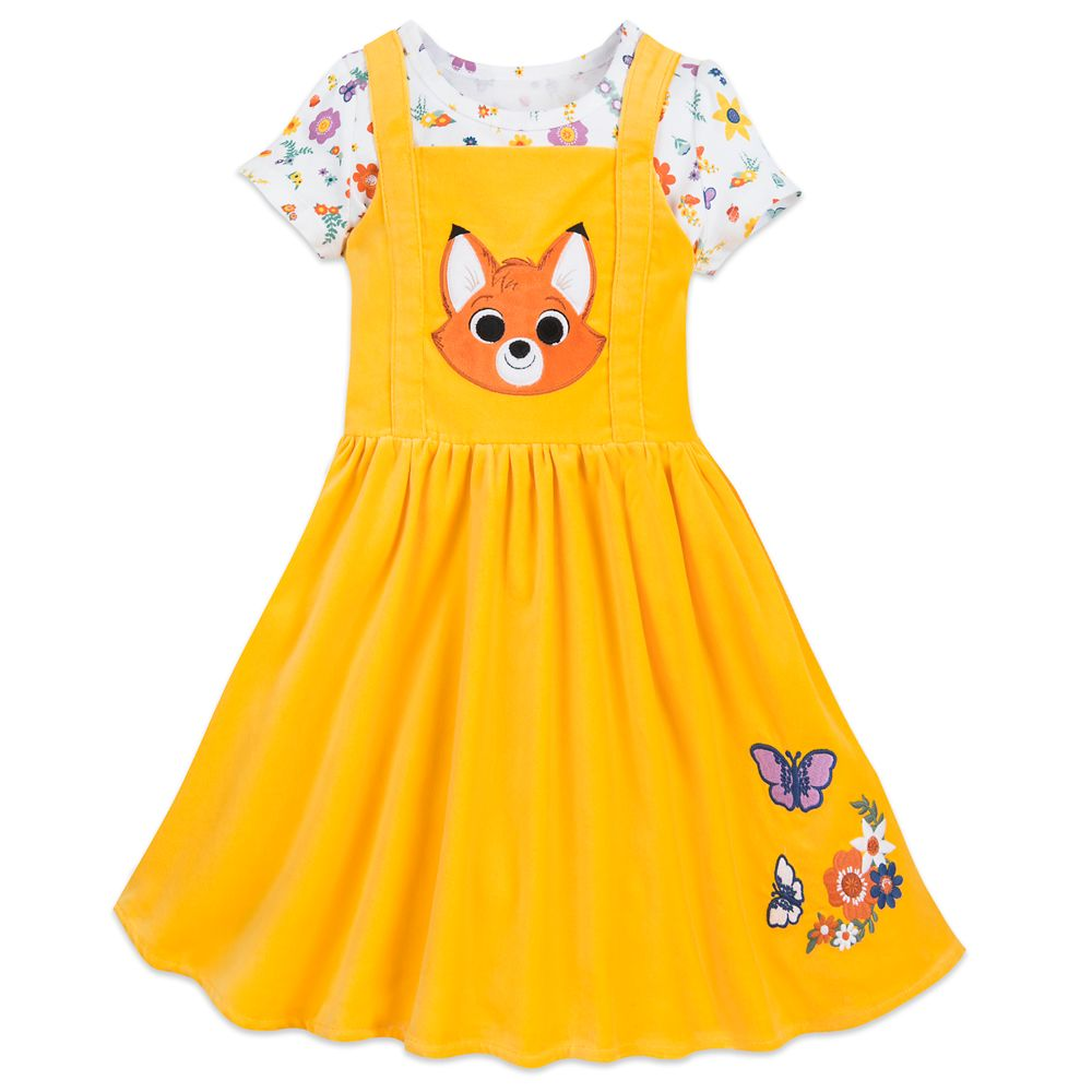 Tod Pinafore Set for Girls – The Fox and the Hound – Disney Furrytale friends Collection
