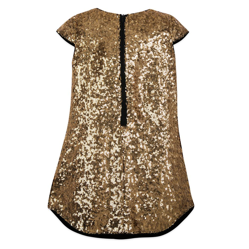 Minnie Mouse Gold Sequin Shift Dress for Girls