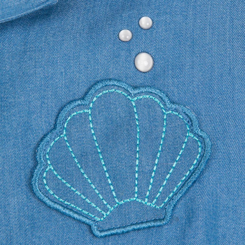 Ariel Woven Shirt and Skirt Set for Girls