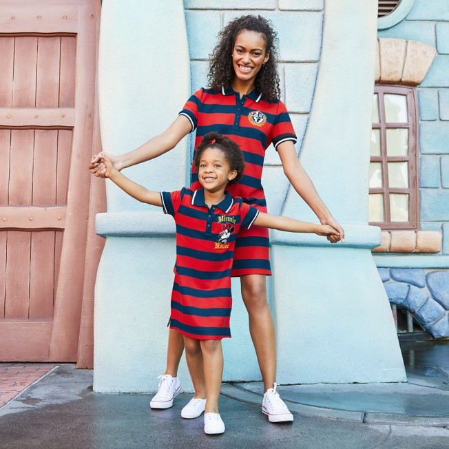 Minnie Mouse Striped Polo Shirt Dress for Girls