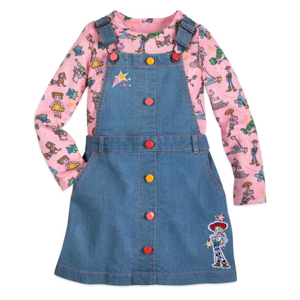 디즈니 토이스토리4 청치마 티셔츠 세트 Toy Story 4 Denim Overall Dress and Shirt Set for Girls