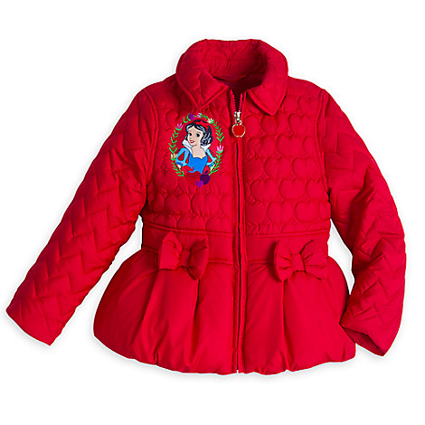Snow White Quilted Jacket for Girls
